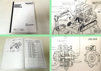 Ersatzteilkatalog Yanmar Crawler Backhoe B50-2B EP Parts Catalog