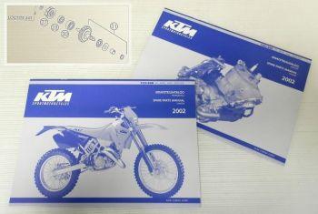 Ersatzteilkatalog KTM 125 200 SX MXC EXC SGP-GS 2002 Ersatzteilliste Spare Parts