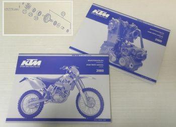 Ersatzteilkatalog KTM 400 520 SX EXC Racing 2000 Ersatzteilliste