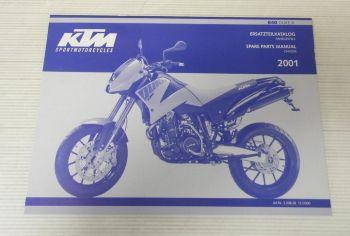 Ersatzteilkatalog KTM 640 Duke II 2001 Ersatzteilliste Spare Parts Manual