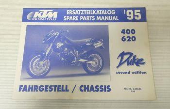 Ersatzteilkatalog KTM 400 620 Duke second editio 1995 Ersatzteilliste Parts List