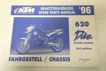 Ersatzteilkatalog KTM 620 Duke Electric Starter 1996 Ersatzteilliste Parts List