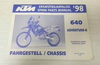 Ersatzteilkatalog KTM 640 Adventure-R 1998 Ersatzteilliste Parts