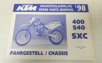 Ersatzteilkatalog KTM 400 540 SXC Fahrgestell 1998 Ersatzteilliste Parts List