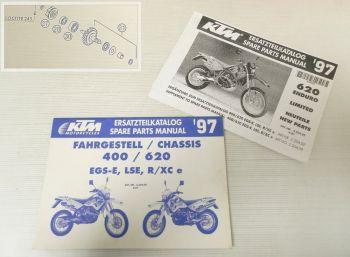 Ersatzteilkatalog KTM 400 620 EGS-E LSE R/XC e 1997 Ersatzteilli