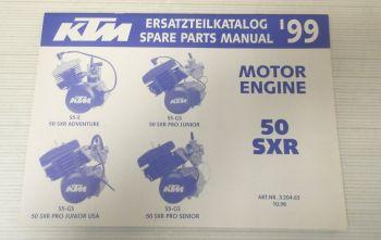 Ersatzteilkatalog KTM 50 SXR S5-E S5-GS 1999 Ersatzteilliste Motor Parts List