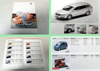 Katalog VW Volkswagen Modellfahrzeuge 2006 Übersicht Preisliste