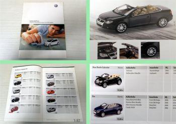 Katalog VW Volkswagen Modellfahrzeuge 2007 Übersicht Preisliste