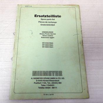 Ersatzteilkatalog Niemeyer KR2530 Stein KR3030 KR4030 Ersatzteil