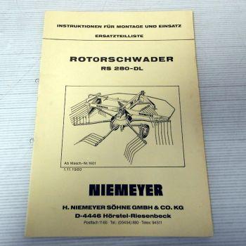 Ersatzteilliste Niemeyer RS280-DL Betriebsanleitung Parts List 1