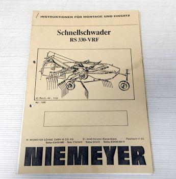 Ersatzteilliste Niemeyer RS330-VRF Schnellschwader Betriebsanlei
