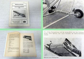 Fortschritt T391 Mehrzweckförderer Bedienungsanleitung Ersatzteilliste 1980