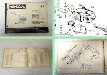 Holder R4 Betriebsanleitung Ersatzteilkatalog spare parts list 1970 mit JLO L99