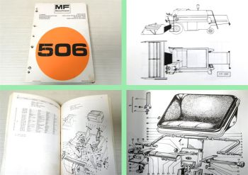 Ersatzteilkatalog Massey Ferguson MF 506 Mähdrescher Ersatzteilliste 1977 MF506