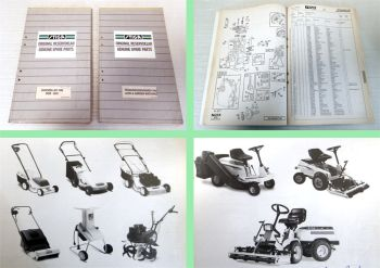 Stiga Lawn Garden Machines ride-ones parts list original reservdelar 1996