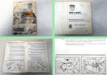 Mini 850 1000 Bedienungsanleitung Betriebsanleitung 1971