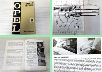 Opel Olympia Kadett Bedienungsanleitung Betriebsanleitung 1968