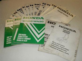 Honda Werkstatthandbücher Ergänzungen Hinweise Mäher Pumpen Gene
