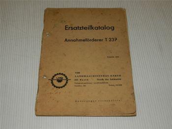 LMB Annahmeförderer T237 Ersatzteilkatalog Ersatzteilliste 1968