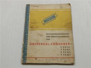 Universal Förderer T221/1 222/1 223/1 224/1 Bedienungsanleitung
