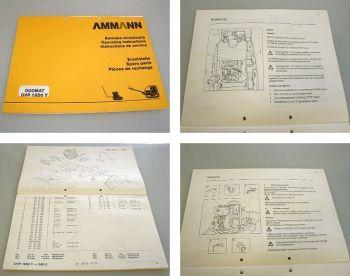 Ammann DVP1850Y Vibrationsplatte Betriebsanleitung + Ersatzteilliste 1992 Yanmar