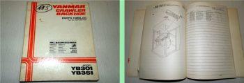 Yanmar YB301 YB351 Crawler Parts Catalog Ersatzteilliste