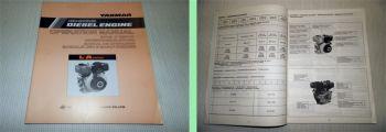 Yanmar L-A series Air Cooled Diesel Engine Bedienungsanleitung Owners Manual