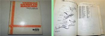 Yanmar B50 Ammann Crawler Parts Catalog Ersatzteilkatalog 1990