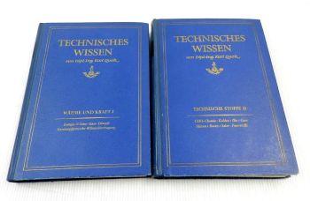 Technisches Wissen Technische Stoffe Band 1 und 3 Karl Quak 1955