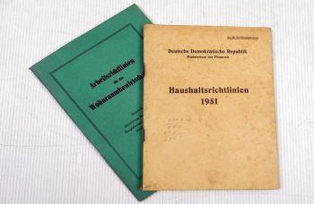 DDR Haushaltsrichtlinien Arbeitsrichtlinien für die Wohnraumbewi