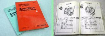 Hitachi Zaxis 130W Hydraulikbagger Ersatzteilliste Ersatzteilkat