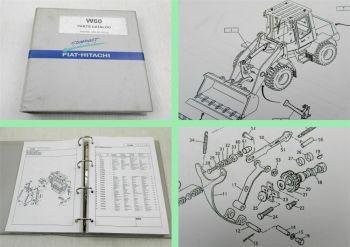 Fiat Hitachi W60 Radlader Parts catalog Ersatzteilliste Ersatzteilkatalog 2001
