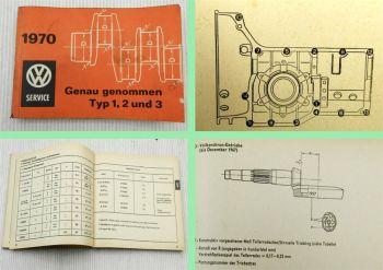 Service Daten VW Typ 1 2 3 4 Taschenbuch Genau genommen 1970