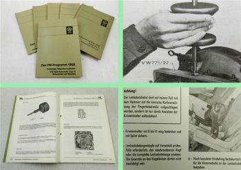 VW Dienst Typ 1 2 3 vorläufiger Reparaturleitfaden Reparaturhandbuch 1968/69