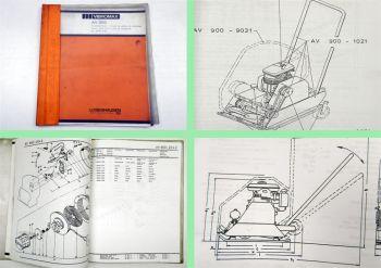 Vibromax AV 900 Vibrationsplatte Ersatzteilkatalog Spare Parts List