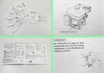 Honda GX120 GX160 GX200 Motor Betriebsanleitung Bedienungsanleitung manual 1994