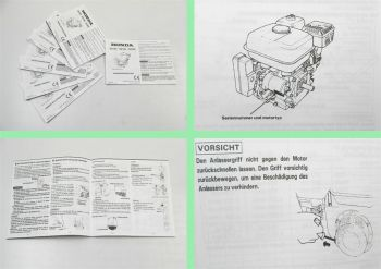 Honda GX120 GX160 GX200 Motor Betriebsanleitung Bedienungsanleit
