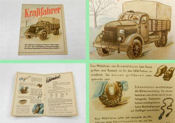 Prospekt Volkspolizei Kraftfahrer Winter Ausrüstung DDR 1953