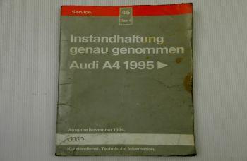 Reparaturleitfaden Audi A4 B5 ab 1995 Instandhaltung Service Wartung Ölwechsel