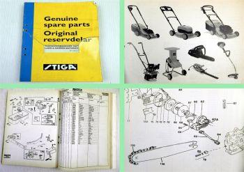 Stiga Rasenmäher Sägen Gartengeräte Ersatzteilliste Parts Catalogue 1997