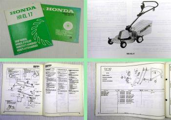 Honda HR-EL 17 Rasenmäher Werkstatthandbuch 1982 + Teilekatalog