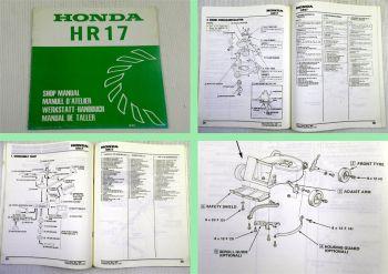 Honda HR17 Werkstatthandbuch Manual de Taller Shop Manual 1980