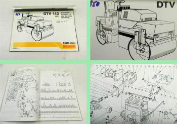 Ammann Duomont DTV143 Tandemwalze Ersatzteilliste Parts List Lis