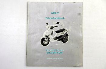 Adly Silver Fox Mokick Mofaroller Fahrerhandbuch Bedienungshandb
