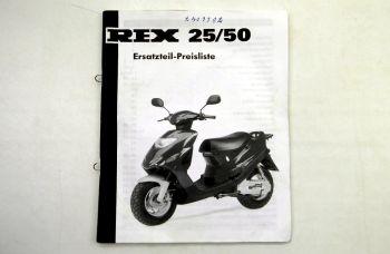 REX 25/50 Motorroller Ersatzteil-Preisliste Ersatzteilkatalog 19