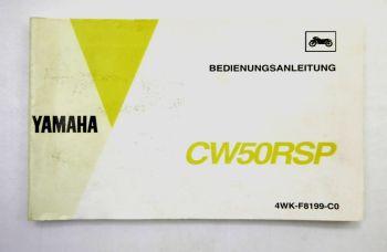Yamaha CW50RSP Motorroller Bedienungsanleitung Betriebsanleitung