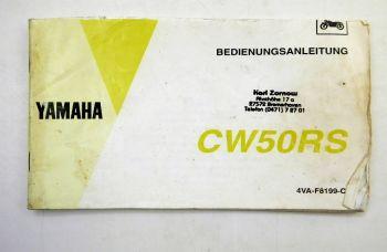 Yamaha CW50RS Motorroller Bedienungsanleitung Betriebsanleitung