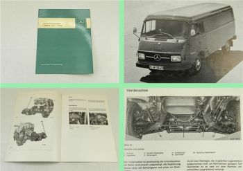 Mercedes Benz Leichttransporter L206D L306D Einführungsschrift Kundendienst 1971