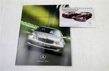 Mercedes Benz W203 C-Klasse Limousine Prospekt + Bedienungshinwe