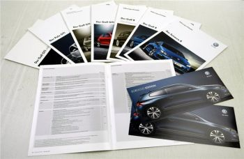 VW Golf GTI / R, Scirocco R, Polo GTI 6 Prospekte + Preislisten